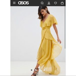 ASOS Ruffle Romantic Boho Party Wedding Maxi Dress